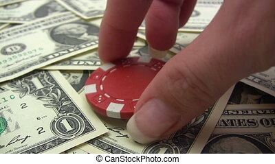 Stacking Red Poker Chips - Canon HV30 HD 16:9 1920 x 1080...