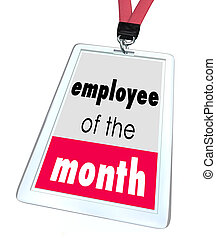 Employee of the Month Badge Name Tag Top Performer Award -...