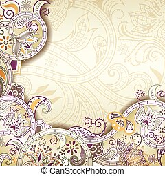 Abstract Purple Floral Background - Illustration of abstract...