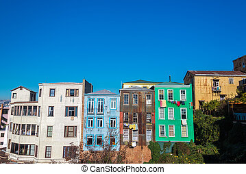 Rustic Colorful Houses