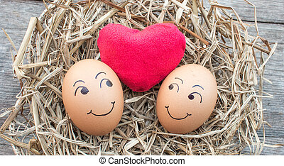 egg in love