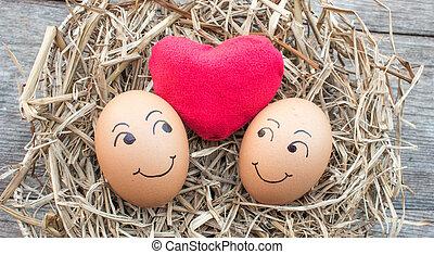 egg in love