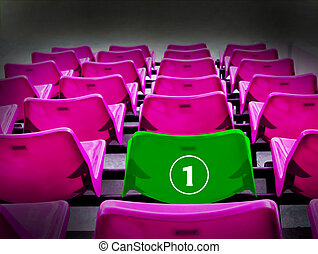 Many magenta and green 1st seat, winner concept - Many...
