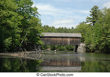 Babbs Bridge, Windham, ME, on a sunny spring day