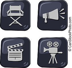 icon button art - editable icon button art vector graphic...