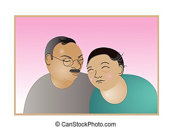 elderly couple love forever