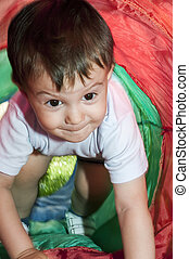 Boy in the tunnel toy