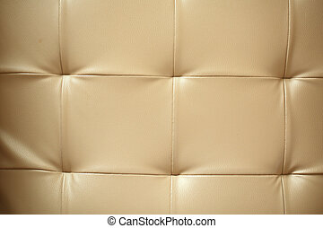 Close up leather sofa background in the hotel