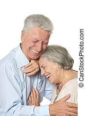 happy older people - Portrait of a happy older people on a...