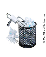 Disposable health - Metal mesh garbage container for rubbish...