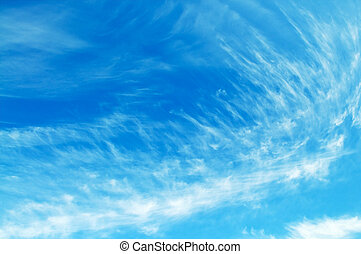 beautiful blue sky - The blue sky and beautiful white clouds