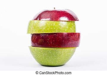 Mixed Fruit - Close up mixed fruit with white background