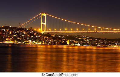 Fatih Sultan Mehmet Bridge in Istanbul City