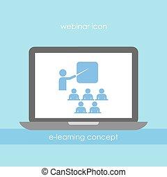 Webinar icon - Webinar vector icon