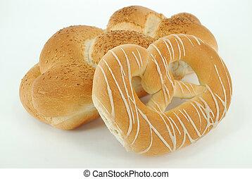bread, Pretzel