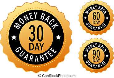 Money back icons set
