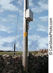 pole sign - warning sign on pole in kerry ireland