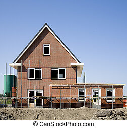 Construction site Homeruskwartier in Almere, the Netherlands...
