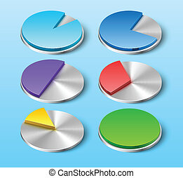 Vector Business Pie Charts for Your Designs