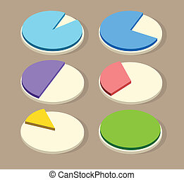 Flat Business Pie Charts