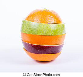 mixed fruit - Close up mixed fruit with white background