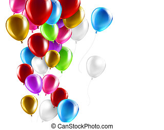 colorful balloons - colorful balloons on a white background...
