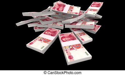 Falling 100 Chinese Yuan Packs Matt