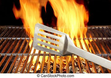 BARBECUE, gril, spatule, Flammes, XXXL