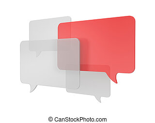Speech bubbles - Communication concept. Isolated on white