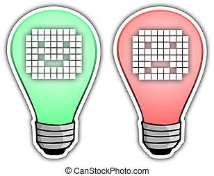 Icon bulb - Creative design of icon bulb