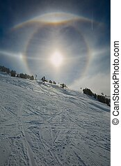 Sun Halos - Varoious sun halos appearing in the winter sky