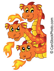 Dragon topic image 3 - eps10 vector illustration.