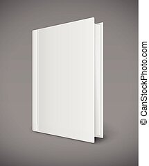 White book template with blank cover