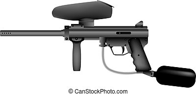 Paintball marker isolated