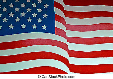 United States Flag - Painted United States of America Flag
