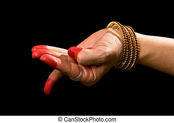 Chatura hasta of indian dance Bharata Natyam - Woman hand...