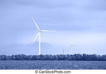 Wind energie - Alternative energy wind turbines Toned