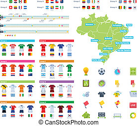 Soccer championship infographic - Set of the soccer...