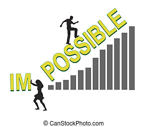 Impossible - Behind every successful man, there stands a...