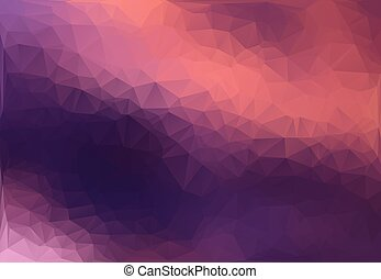 Pink and purple abstract polygon triangle background