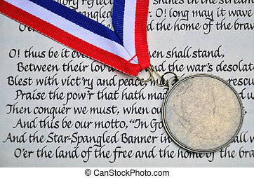 Fourth of July Patriotism - A metal symbolic of fighting for...