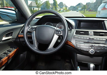 Car interior Auto background