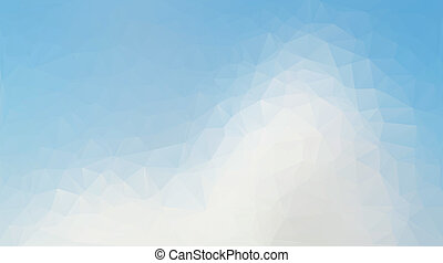 Blue and white abstract polygon triangle background