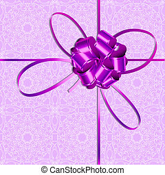 Background with violet bow