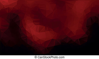 Red and black abstract polygon triangle background