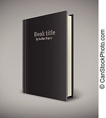 Book template with black cover