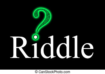 Riddle with a maze-question mark on the i-point - For...