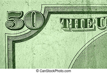 Fifty Dollar Bill - A close up on a fifty dollar bill....