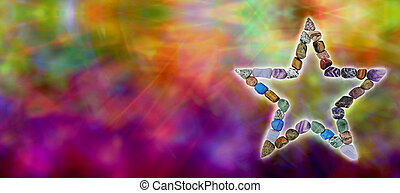 Crystal Healing Website Header - Colorful abstract web...