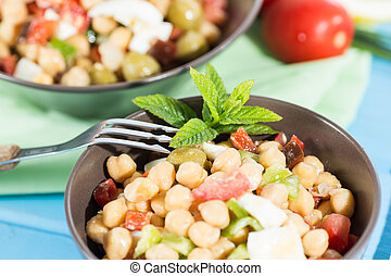 Chickpea Salad - Cold and nutritious salad of chickpeas with...